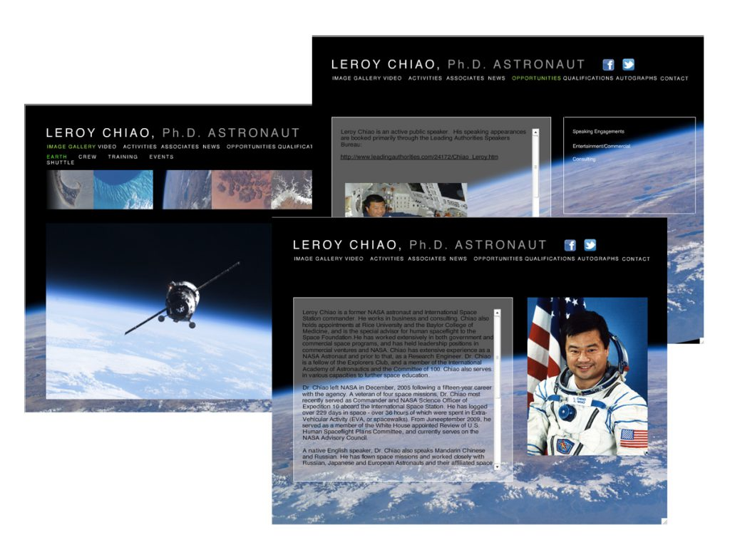 Website Design: Dr. Leroy Chiao