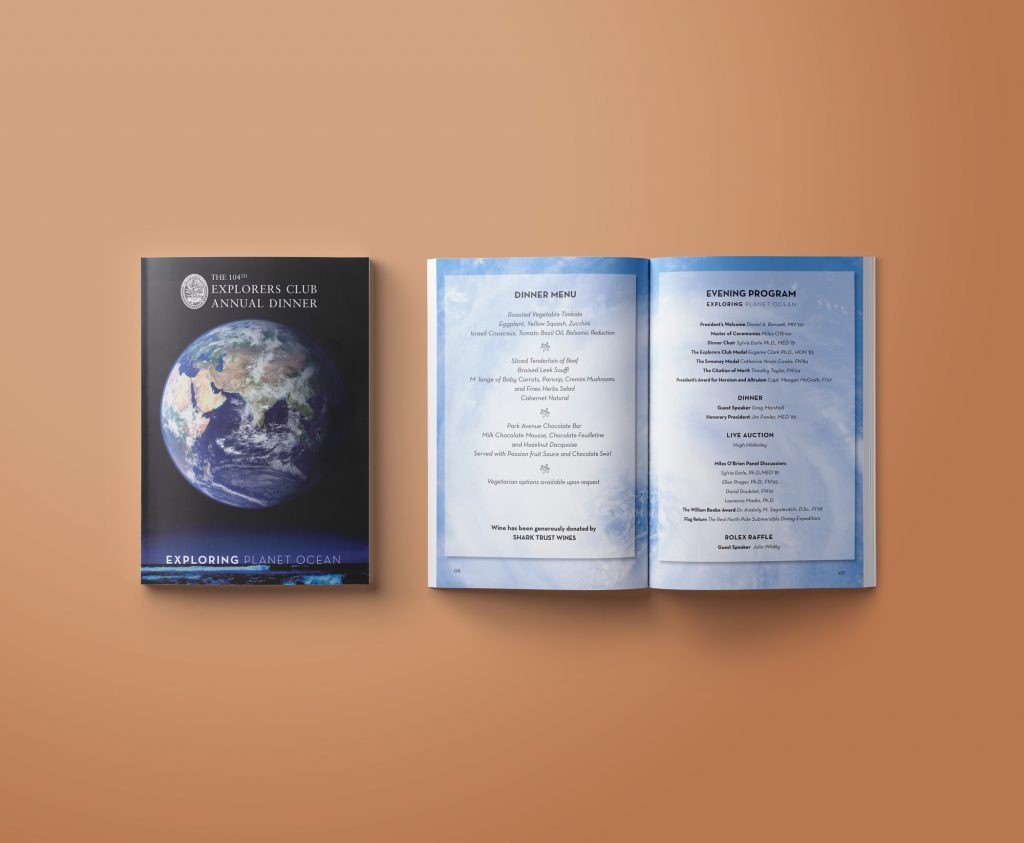 Catalogue and Brochure Design: The Explorers Club